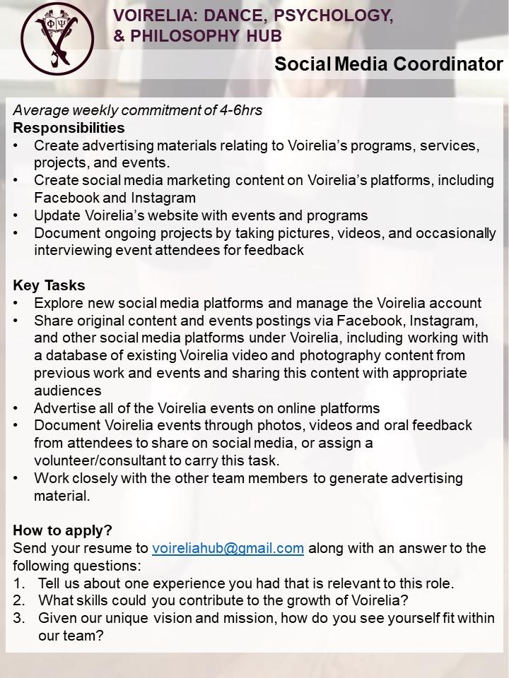 Voirelia_Social Media Coordinator